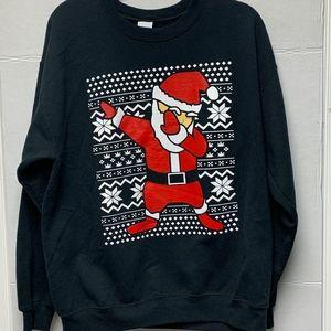 Dabbing Santa Holiday Crewneck Sweater